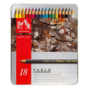 Caran D'Ache Pablo Colored Pencil Set of 18