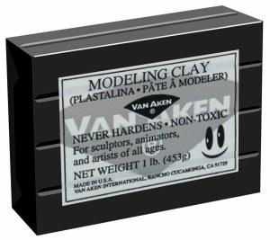 Van Aken Plastalina Modeling Clay 1lb. Black