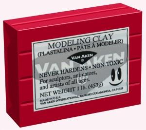 Van Aken Plastalina Modeling Clay 1lb. Red