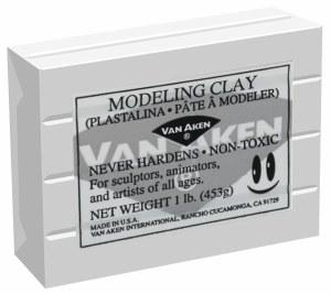 Van Aken Plastalina Modeling Clay 1lb. White