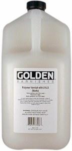 Golden Polymer Varnish with UVLS - Matte Gallon