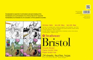 Strathmore Sequential Art Bristol Smooth 11x17 24 loose sheets
