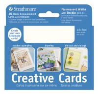Strathmore Creative Cards Ivory w/Deckle 3.5x5 10pk