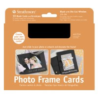 Strathmore Photo Frame Cards Black w/ Cut Out Window 5x7 10pk