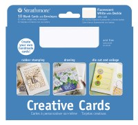 Strathmore Creative Cards Fluorescent White w/ Gold Deckle 5x7 10pk