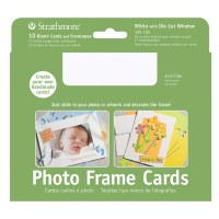 Strathmore Photo Frame Cards White w/ Cut Out Window 5x7 10pk