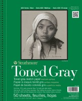 Strathmore 400 Series Toned Gray Sketch Pad 11x14
