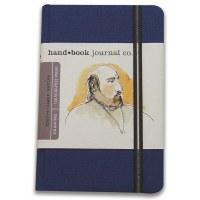 Hand Book Travelogue Journal Portrait Ultramarine Blue 3.5x5.5