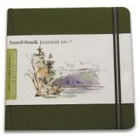 Hand Book Travelogue Journal Square Cadmium Green 5.5x5.5