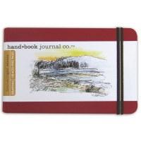 Hand Book Travelogue Journal Landscape Vermillion Red 8.25x5.5