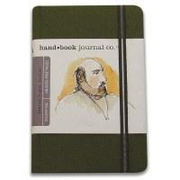Hand Book Travelogue Journal Portrait Cadmium Green 5.5x8.2