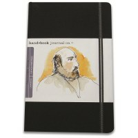 Hand Book Travelogue Journal Portrait Ivory Black 5.5x8.2