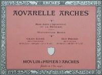 Arches 140lb Hot Press Block 9x12 20 sheets