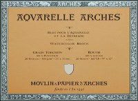 Arches 140lb Rough Block 18x24 20 sheets