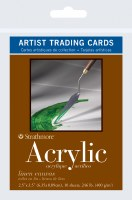 Artist Trading Cards Acrylic Linen Canvas 2.5x3.5 10 sheets