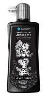 Yasutomo Traditional Chines Ink Silver Black 180 ml