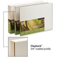 Ampersand™ Claybord™ Smooth with 3/4in Cradle 12x16