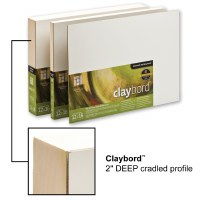 Ampersand™ Claybord™ Smooth with 2in Cradle 8x10