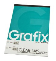 Grafix Clear-Lay Plastic Film .003 9x12 25 sheets