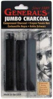 General's Assorted Jumbo Compressed Charcoal Sticks 3pk