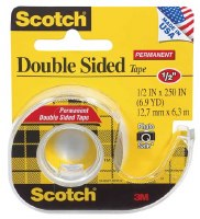 Scotch Double-Sided Permanent Tape 1/2in. Wx450in. L