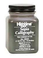 Higgins Sepia Calligraphy Non-Waterproof Ink 46036