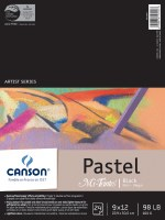 Canson Mi-Teintes Paper Pad Black 9x12 24 sheets