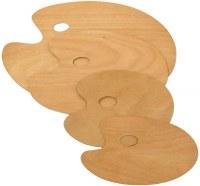 Art Alternatives Artist's Wooden Palette Oval 11.75 x 15.75