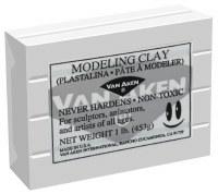 Van Aken Plastalina Modeling Clay 1lb. Gray