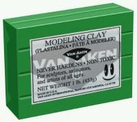 Van Aken Plastalina Modeling Clay 1lb. Green