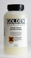 Golden Polymer Varnish with UVLS - Satin 32oz