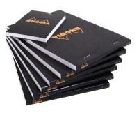 Rhodia Blank Paper Notepad 8.25x11.75 Black