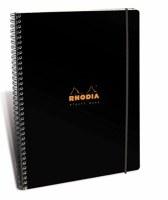 Rhodia Lined Elasti Book Wirebound 9x11.75 Black