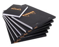 Rhodia Graph Paper Notepad 8.25x11.75 Black