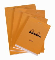 Rhodia Lined Paper with Margin Notepad 6x8.25 Orange