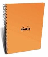 Rhodia Meeting Book Wirebound 6.5x8.25 Orange