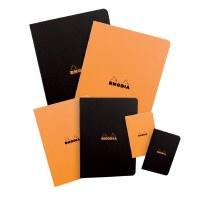 Rhodia Lined Paper Staplebound Notebook 6x8.25 Black