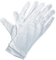 Art Alternatives Soft White Cotton Gloves 4pk