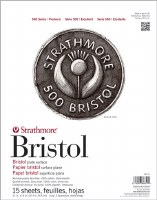 Strathmore Bristol Paper Pads – 500 Series 11x14 Plate 15 sheets