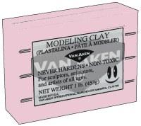 Van Aken Plastalina Modeling Clay 1lb. Pastel Pink