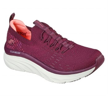 Skechers 'Relaxed Fit: D'Lux Walker - Star Stunner' Ladies Trainers (Plum)