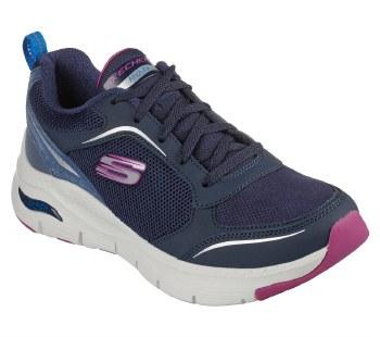 Skechers 'Arch Fit - Gentle Stride' Ladies Trainers (Navy/Purple)