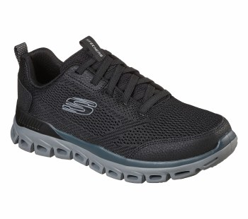Skechers 'Glide-Step' Mens Trainers (Black/Grey)