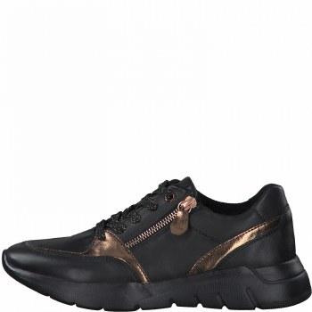 Jana '23731' Ladies Shoes (Black/Gold)