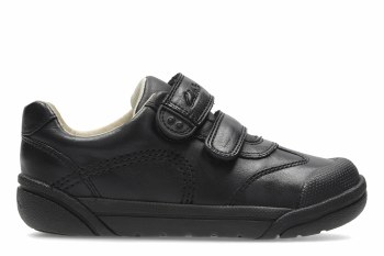 Clarks 'Lilfolk Zoo Inf' Boys School Shoes (Black)
