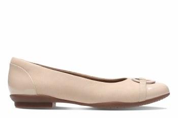 Clarks 'Neenah Vine' Ladies Flats (Nude Combi)
