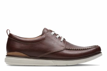 Clarks 'Edgewood Mix' Mens Shoes (Mahongany)