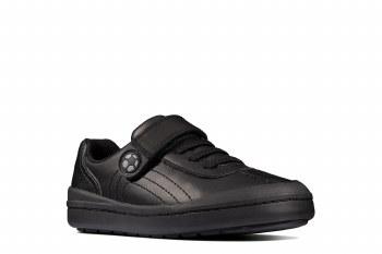 Clarks 'Rock Pass Kids' Boys School Shoes (Black)