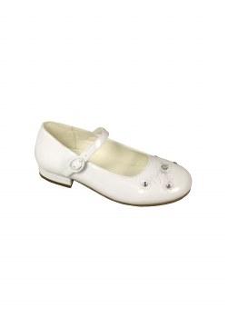 Dubarry 'Violet' Girls Communion Shoes (White Patent)