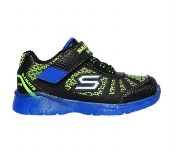 Skechers 'S Lights: Illumi-Brights' Boys Shoes (Black/Lime)